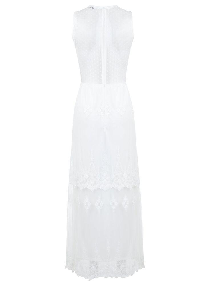 Cream Embroidered Maxi Dress - Miss Selfridge