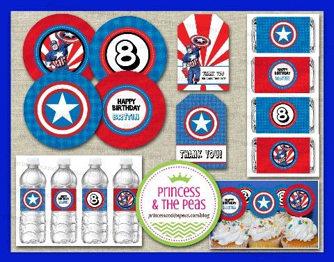 Ser una súper mamá - lance un fresco super (y muy fácil), partido Capitán América! | Ideas asequibles fiesta de cumpleaños de los niños | Invitaciones personales | Los niños fáciles Partes | Kids Party Planificación | Parte Imprimibles | Partidos de los niños en un presupuesto | Su Blog Especialidad partido de los niños