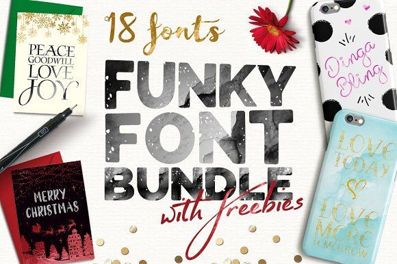 Funky Font Bundle + Extras (85% OFF) by Joanne Marie on @creativemarket