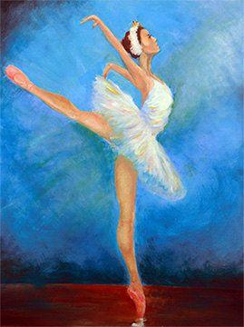 Ballerina Original Acrylic Painting Wall Decoration By