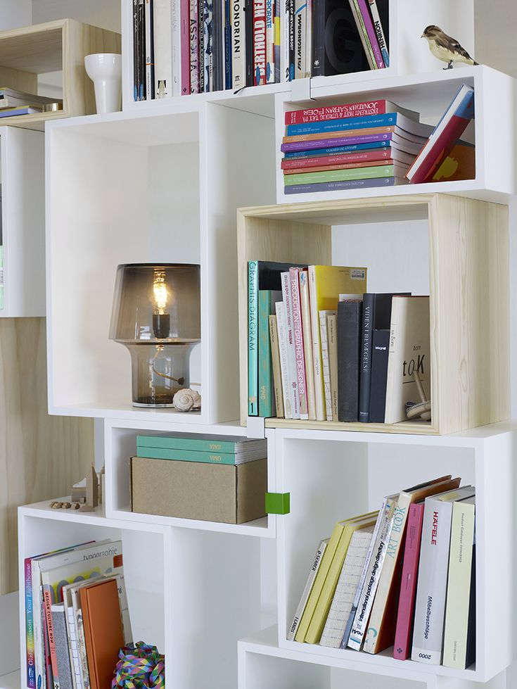 Muuto - Stacked Shelf System - Designed by JDS Architects - muuto.com; similar to CubiT but also natural finish