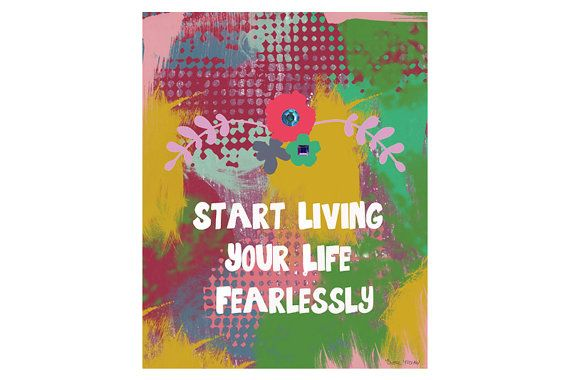Colorful Quote Art Print  Inspirational  Art  by BrookeMontesArt, $5.00