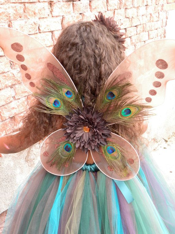 Precious Peacock Wings Fits toddler to by Cutiepatootiedesignz. $25.00 USD, via Etsy.