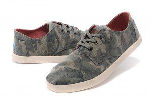 Men's Camo Canvas Paseos Toms Shoes