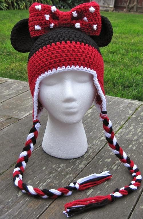 Free Minnie Mouse Crochet Hat Pattern With Ear Flaps : 25+ best ideas about Crochet Disney on Pinterest Disney ...
