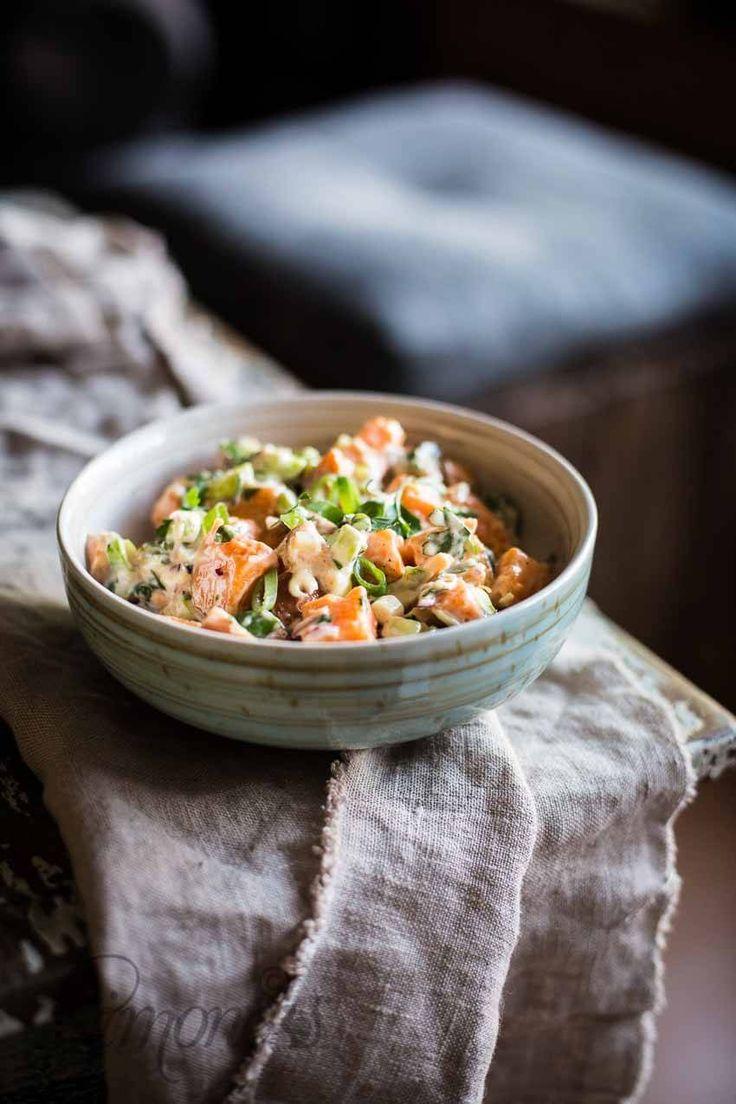 Helmi's zoete aardappelsalade http://simoneskitchen.nl/helmis-zoete-aardappelsalade/