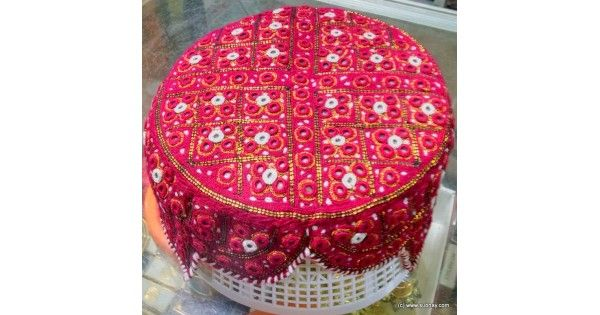 Online Shopping in Pakistan Balochi / Bugti / Sindhi Cap / Topi (Hand Made) MK-194 (Maroon), Online from Pakistan, The Sindhi cap or Sindhi topi (Sindhi: سنڌي ٽوپي , Urdu: سندھی ٹوپی) is a hat worn predominantly by Sindhi people of Sindh province - howe - 3