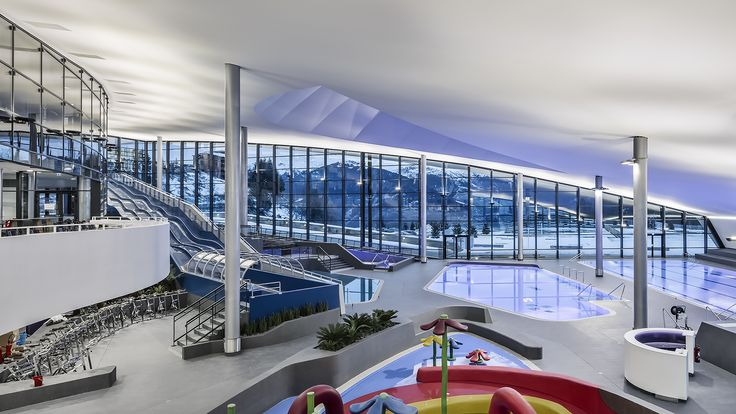 """Image 7 of 18 from gallery of Aquatic Centre """"Aquamotion"""" Courchevel / Auer Weber. Photograph by Aldo Amoretti"""