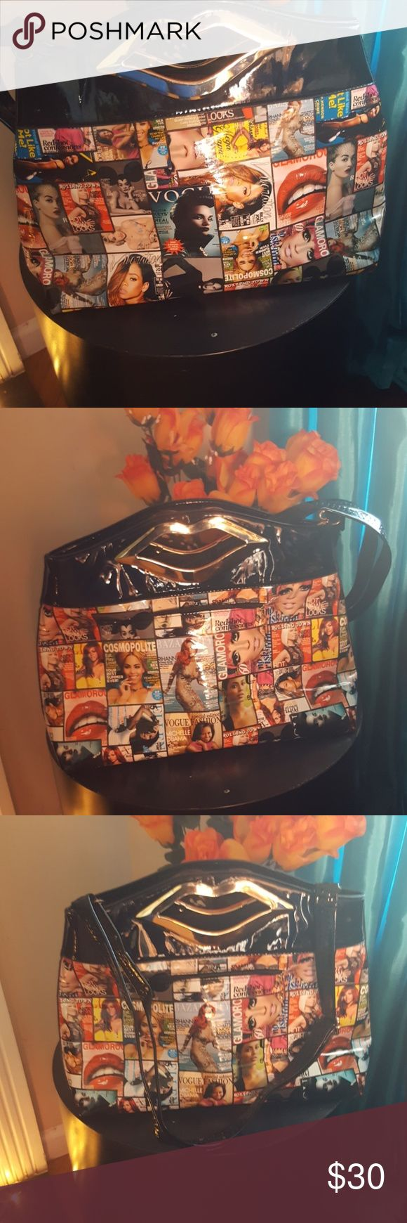 Large clutch purse with strap All the ladies we love Michelle Obama Rihanna Beyonce Alicia Keys and many more. This is a large clutch purse it has  inside compartments for cell phone glasses. 1 zipper compartment outside Bags