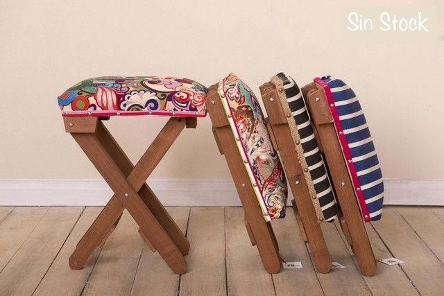 ORIGEN: objeto nuevo, piezas únicas. MATERIAL: madera plegables. ORIGEN GENERO: algodón importado. MEDIOSDE PAGO: A través de Mercado Pago, transferencia o ...