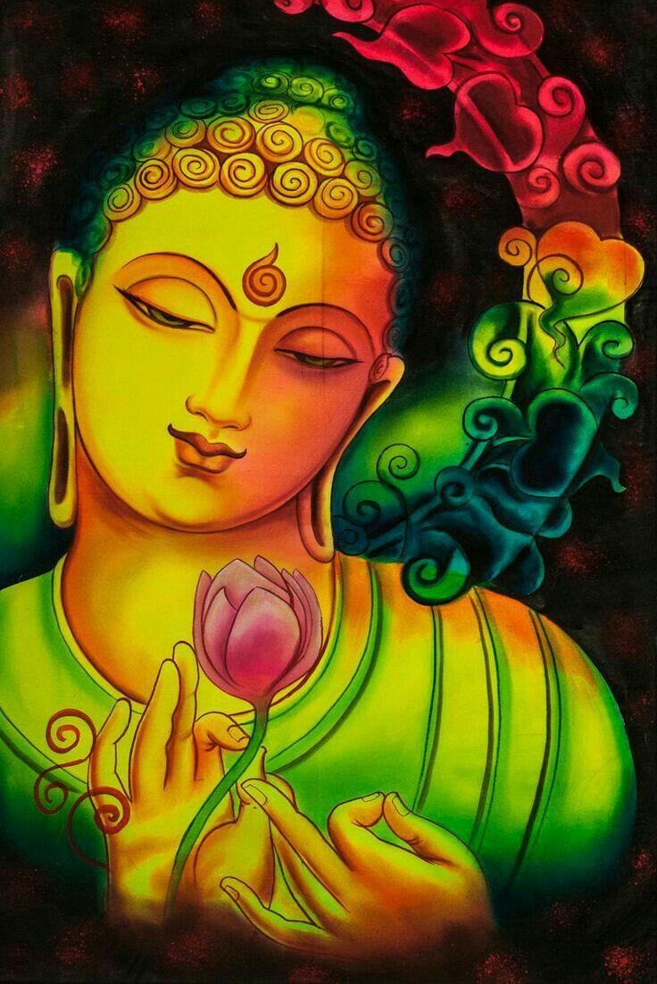 382 best buddha art images on pinterest buddha artwork for Buddha mural paintings