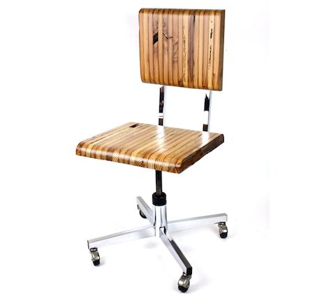 reclaimed barnwood office chair the chair marries the bones of an upcycled vintage office