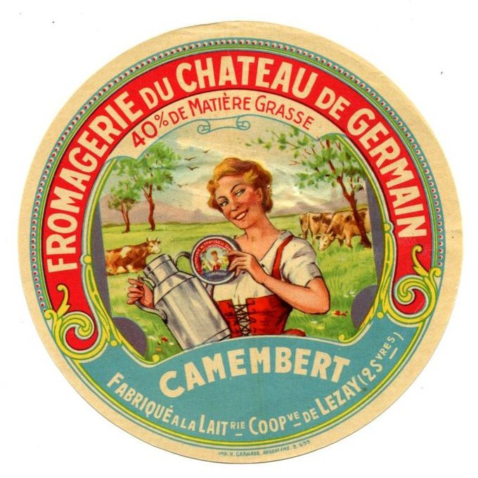 Vintage French cheese label