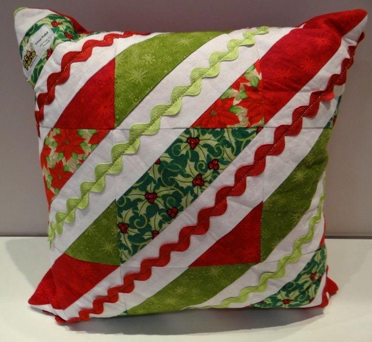 Almofada de Natal com Tecido Patchwork Circulo!                                                                                                                                                                                 Mais