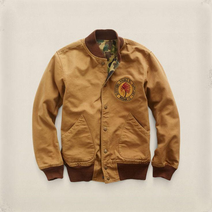 RRL Ralph Lauren Murray Reversible Varsity Bomber Jacket