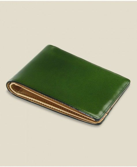 Il Bussetto - Small Bi-Fold Wallet - Green