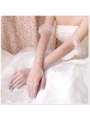 Tulle Bridal Fingertips Elbow Length Gloves