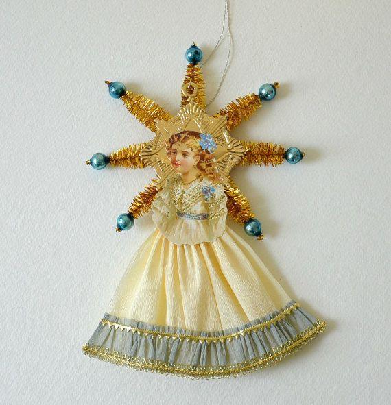Victorian Scrap Christmas Ornaments / German Scrap by pinkprairies