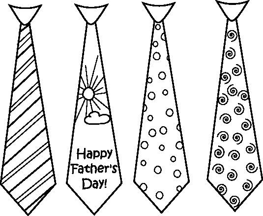 fathers day tie coloring pages - photo#31