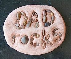Fathers Day Crafts  Fathers Day Crafts: Fathers Day Crafts, Father'S Day Crafts, Dads Rocks, Father'S Day Gifts, Paper Weights, Bad Puns, Crafts Father'S, Step Stones, Gifts Idea