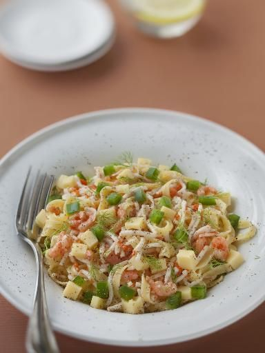 Salade Marco Polo remplacer les tagliatelles pas des pâtes comme des  coquillettes, penne rigate ou macaroni !