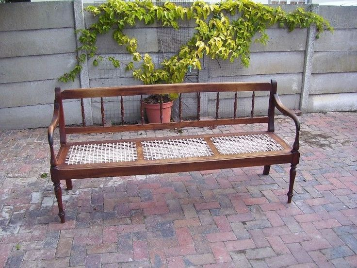 Three seater stinkwood riempies  bench