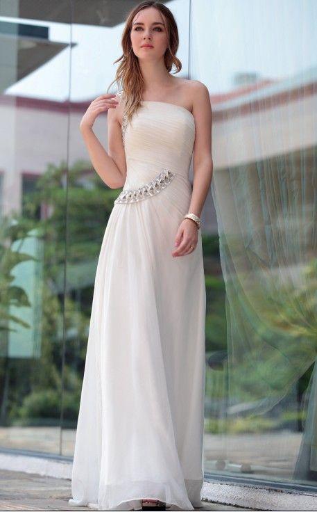 Vestido Asimetrico para boda religiosa o civil