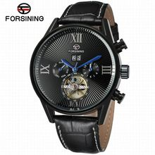 FORSINING Originals top brand automatic skeleton mechanical watch male clock sports Men military wristwatches relogio Gift Men(China (Mainland))