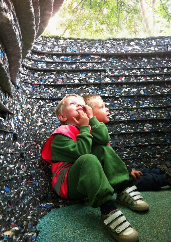 Haugen / Zohar create a magical playground cave with pre-industrial waste in Norway.