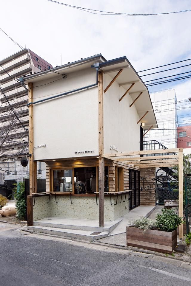 ONIBUS COFFEE-- a simple and great outdoor kiosk design with raw framing and simple exterior elements