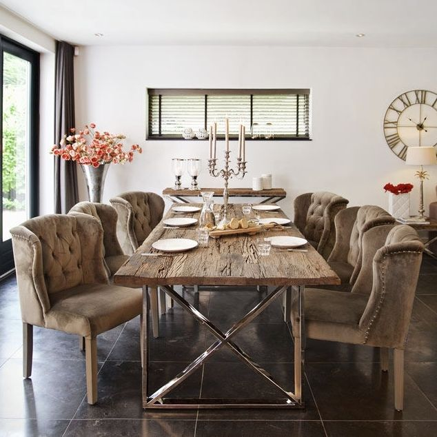 Beautiful 240cm Solid Wood Table Is Forged From Solid Indian