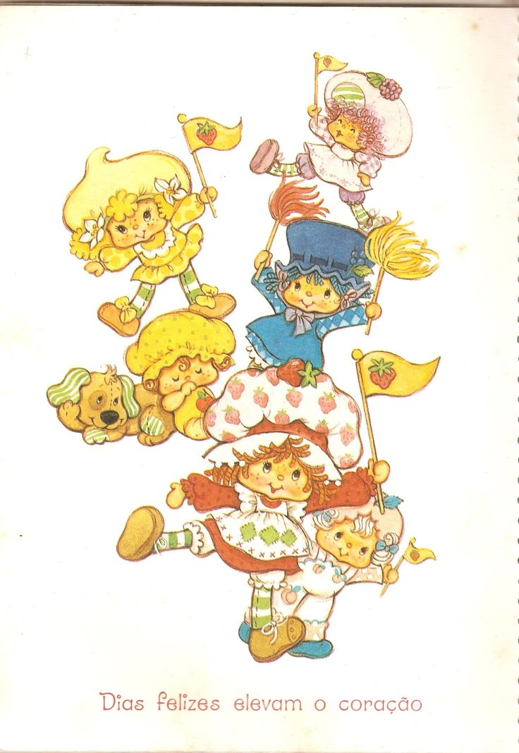 890 best Vintage SSC Greeting Cards images – Strawberry Shortcake Birthday Card