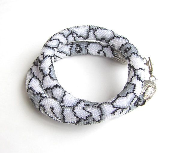 Bead crochet snake pattern so cool!