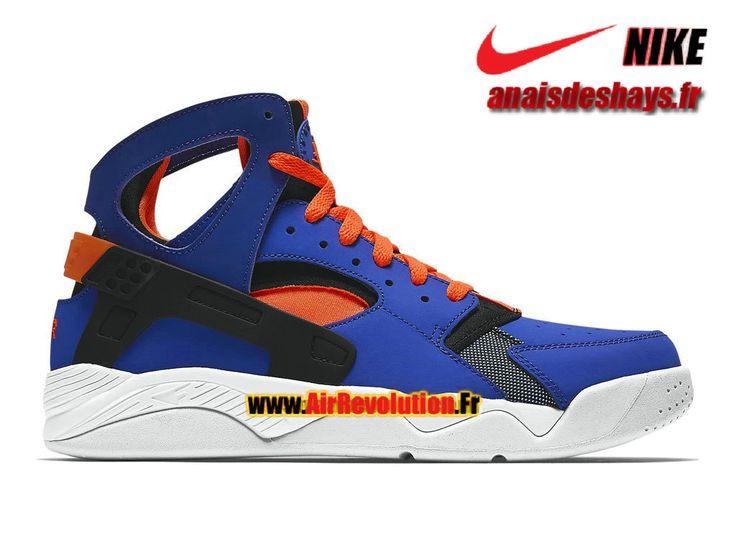 Boutique Officiel Nike Air Flight Huarache Bleu électrique/Orange total/Noir/Blanc 705005-400