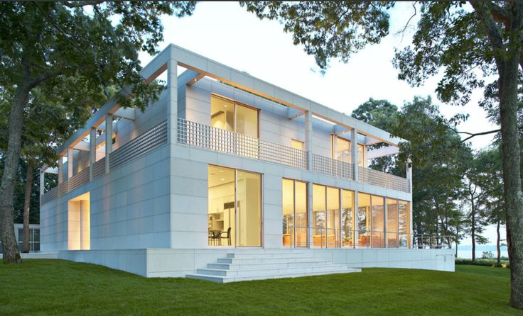 Modern Retreat - Limestone House from Valders Stone & Marble Inc.