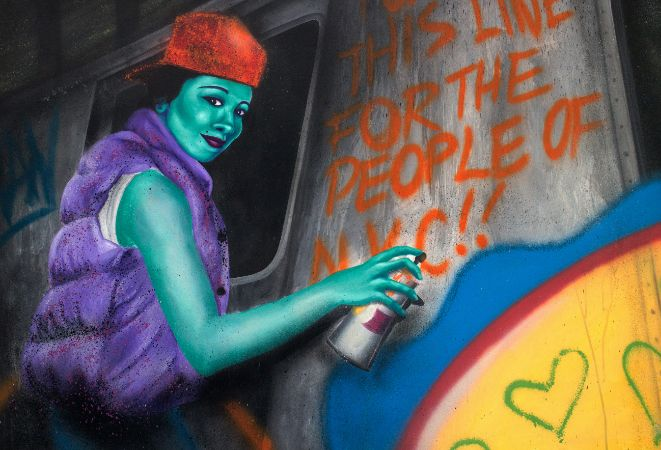 Des chefs-d'oeuvre réalisés par les plus grands maîtres du graffiti sur toile dans les années 1970-1990, sont exposés à la Pinacothèque de Paris !