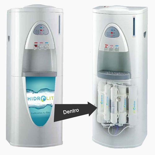 Dispenser De Agua Frío Calor A Tiempo Con Sistema De Osmosis Inversa Marca Hidrolit Modelo Rodi100 Consíguelo En Agu Dispensador De Agua Agua Agua Potable