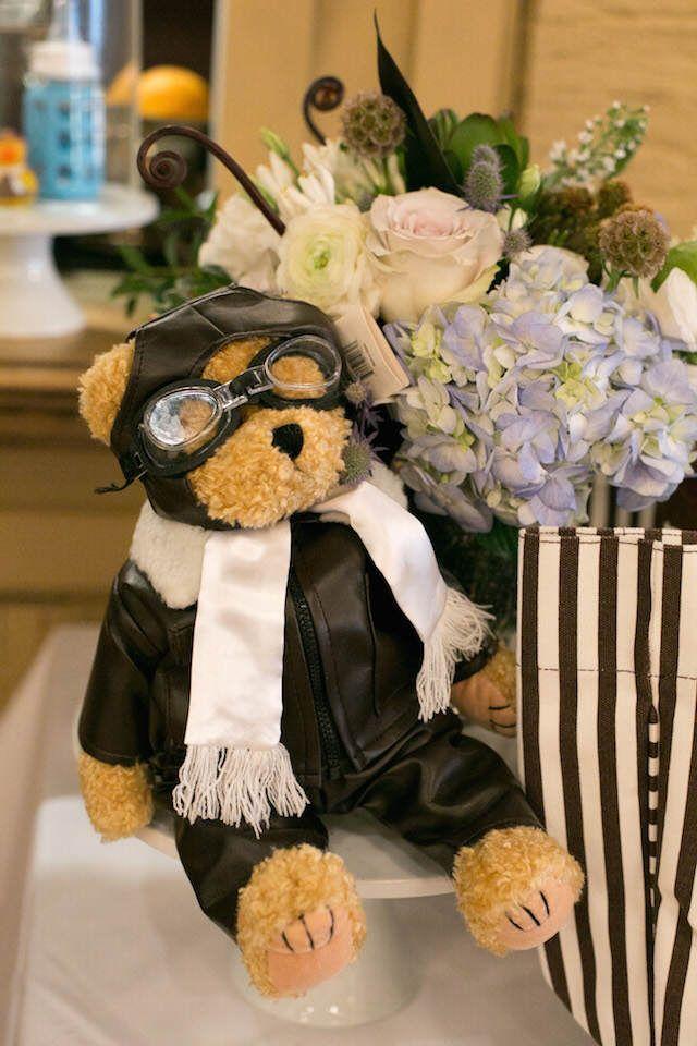 recuerdos para bautizo temático con oso piloto