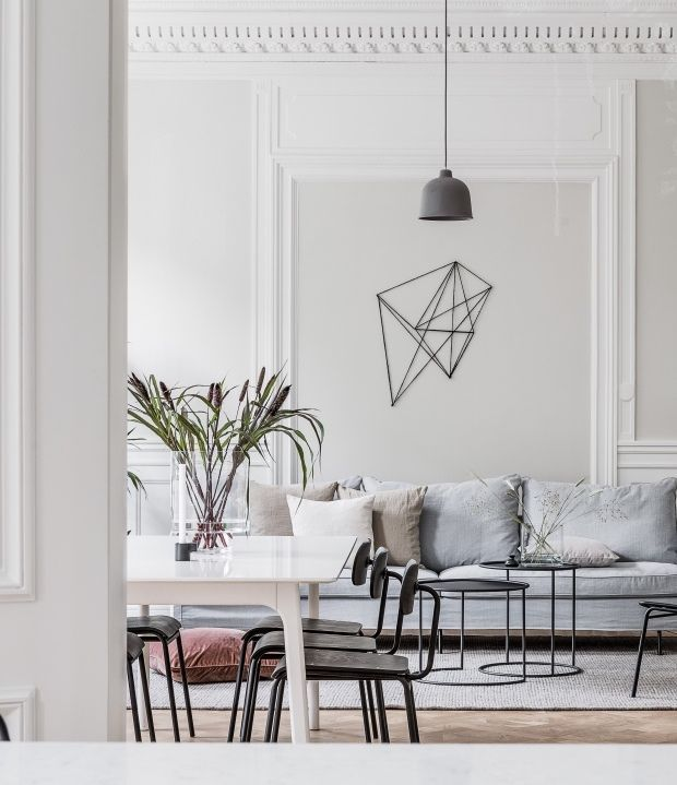 Living Room : Turn Of The Century Home In Beige And White Via Coco Lapine  Design