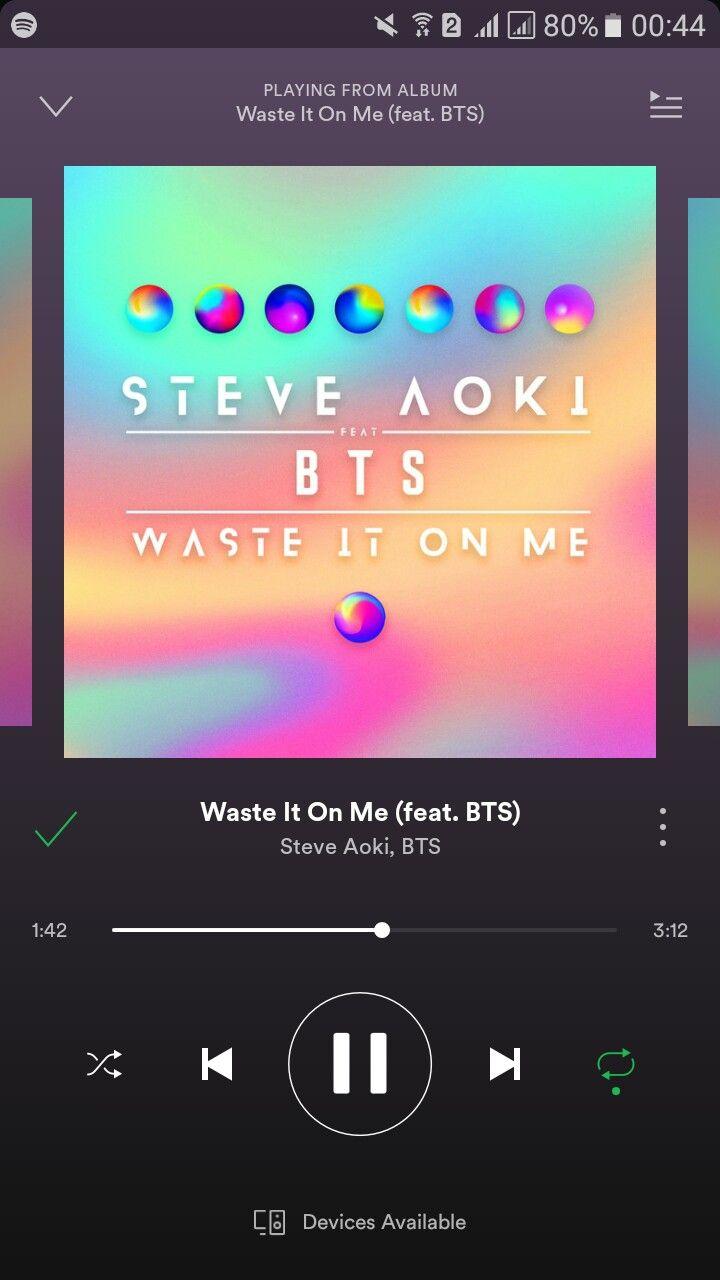 Waste It On Me Feat Bts Steve Aoki Bts Me Too Lyrics Bts