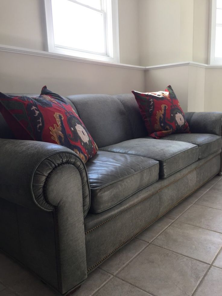 Leather Sofa And Loveseat By Mitchell Gold - For Sale at Norwalk Moving Sale by Watercress Springs Estate Sales, March 31, 2017 to April 2, 2017, 10am to 4pm, 2 Canfield Crossing, Norwalk, CT.