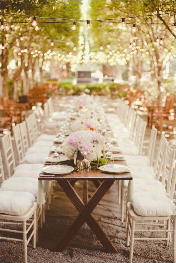 outdoor wedding venues dfw texas%0A This reception seating is perfect for a garden party wedding always  dreamed of one long table