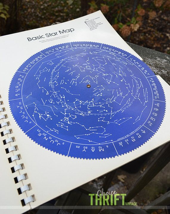 Seasonal Star Charts and Luminous Star Finder, A Complete Guide to the Stars - The Nature Company, 1972