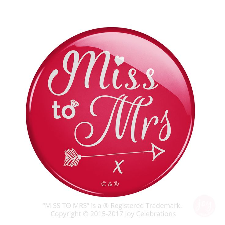 Miss To Mrs Bride Hen Do Party Badges – Token Gift for Bride To Be or Multi-Packs for a party.    #MissToMrs #Hen #Bride #HenDo #HenParty #BrideToBe #Engaged #Engagement #GettingMarried #Marriage #Wedding #JoyCelebrations