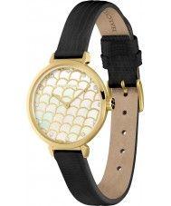 Ladies Halcyon Days Ladies Salamander Sparkle Black Leather Strap Watch 115.00 Watches2U