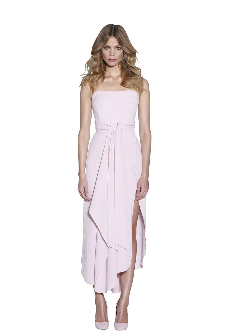 POWDER BLUSH STRAPLESS DRESS | #W #BYJOHNNY #LIMITEDEDITION #AUSTRALIANFASHION
