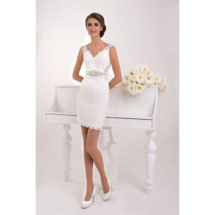Masada - rafinované asymetrické svadobné šaty s krajkou