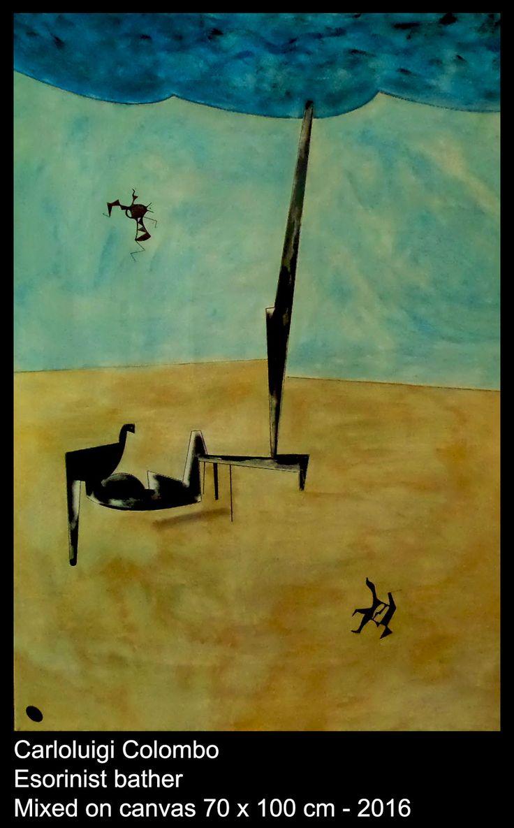 riolo terme, esorinist, painting, canvas, faenza, bather, colombo, carlo, Italy, Italian art