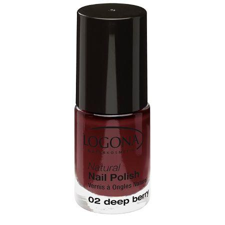 Logona: Natural Nail Nagellack (4 ml): Logona: Farbe: Nagellack 02 deep berry