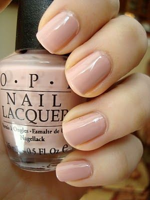 """O.P.I. """"Miso Happy With This Color""""  If Audrey Hepburn wore nail polish, I think this would have been her color. Classy and chic."""